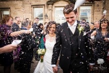 confetti throw at Close House in Northumberland
